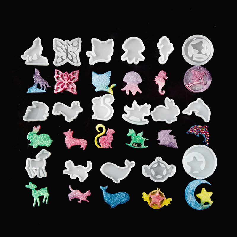 Clear Silicone Mold DIY Animal Pendant Necklace Jewelry Mould Hair Accessories Resin Craft Tool