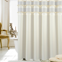 UFRIDAY New Type Joint Shower Curtain With Tassel Waterproof Curtains Wedding Decoration rideau de douche douchegordijn