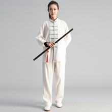סתיו חורף גברים אישה תרגיל טאי צ י בגדי טאי צ י חליפת צוות לחימה אמנויות תחרות חליפת סיני מסורתי בגדים