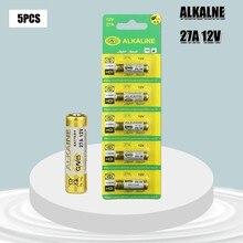 5PCS Nova Dry 27A 12V A27 Bateria Alcalina Para Campainha de alarme de Carro de controle Remoto G27A MN27 MS27 GP27A A27 L828 V27GA ALK27A A27BP