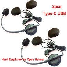 Микрофон USB Type-C, динамик для мотоцикла, Bluetooth, внутренняя связь, для шлема, шлема, закрытого на все лицо, с функцией подключения к шлему