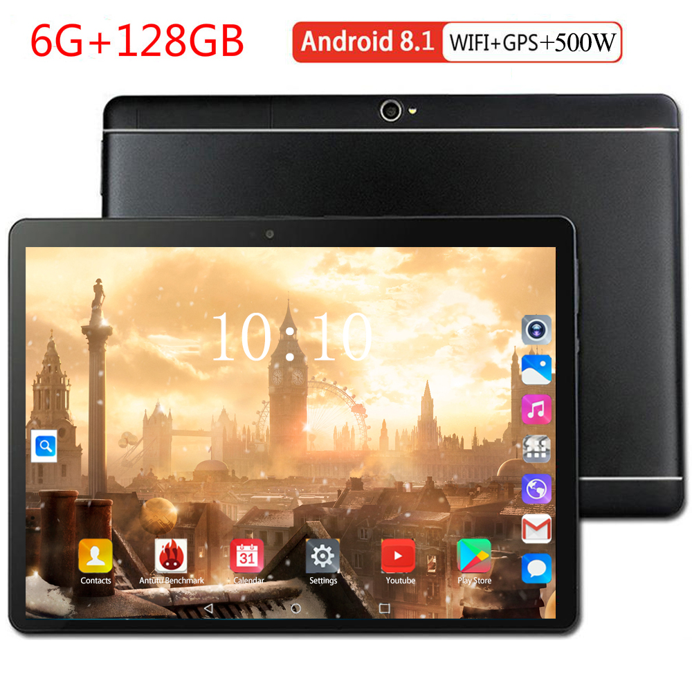 8+128GB 10 Inch Tablet PC 3G 4G LTE Android 8.0 Octa Core Super Tablets Ram 8GB Rom128GB WiFi GPS 10.1 Tablet IPS Dual SIM GPS
