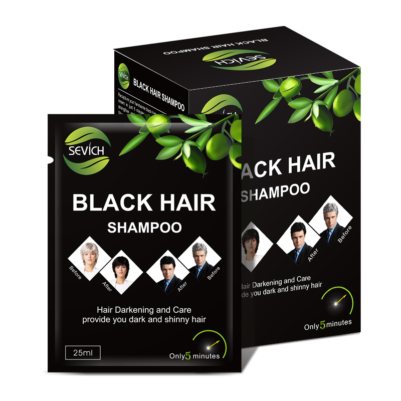 10pcs/set sevich Black Hair Shampoo Hair Color Only 5 Minutes White Become Black Fast Hair Dye Crayons for temporary hair dye image