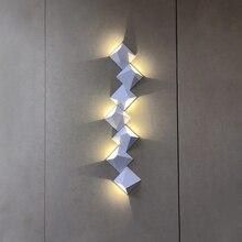 Wall Light Bedroom Luces Led Decoracion Modern Simple Creative  Combinable Nordic Lamp Living Room Corridor Hotel
