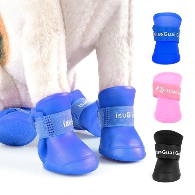 4 Pieces/sets of Pet Dog Rain Boots  1