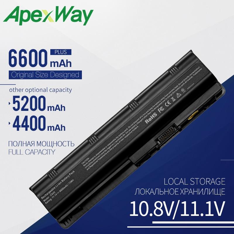 Apexway 593553-001 MU06 For HP Laptop Battery CQ42 CQ43 CQ56 For HP Pavilion G4 G6 G7 DV6 DV7 DM4 MU09 MU06 Notebook Battery