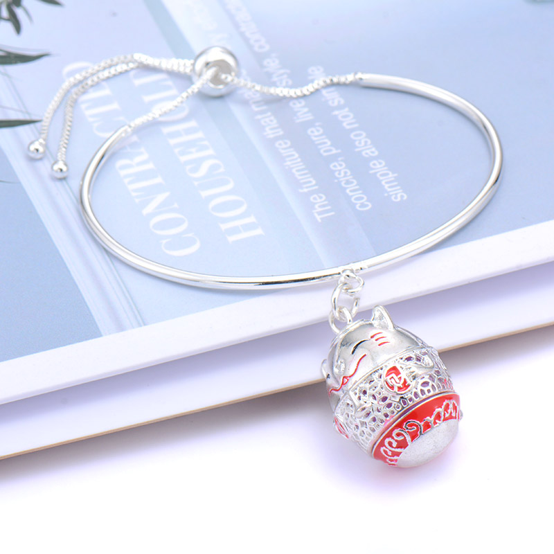 Likable Lucky Cat Chinese style open locket Aromatherapy Bracelets delicate Essential Oils perfume Pendant Charm Brands Bracelet