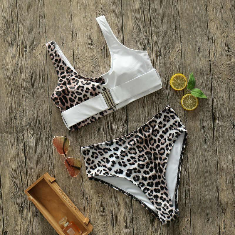 Đỏ Sexy Da Báo Bikini Bộ 2020 Mới Cao Cấp Đồ Bơi Nữ Đầm Biquini Mujer Đẩy Lên Đồ Tắm Mặc Đi Biển BƠI
