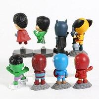 Superheroes Set of 8 Mini Figures 5