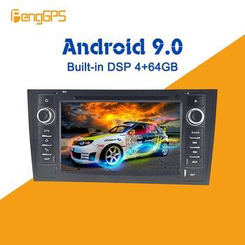 Автомобильный мультимедийный DVD-плеер на Android, GPS-радио для AUDI A6 4B C5 1997- 2004 2005, GPS-навигация, стерео видео головное устройство DSP, стерео