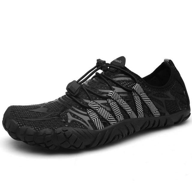 メンズ 5 指の靴裸足屋外スニーカー男性上流アクア靴夏水シューズの男速ドライ川海スリッパ