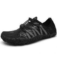 Zapatos de cinco dedos para hombre, zapatillas de deporte al aire libre, para verano, agua, secado rápido, río, mar