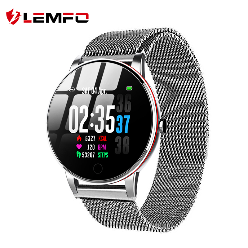 LEMFO Y9 Smart Watch Ip67 Waterproof Slim Metal Body Milanese Strap Replaceable Heart Rate Monitor Blood Pressure Smartwatch Men|Smart Watches|   - AliExpress