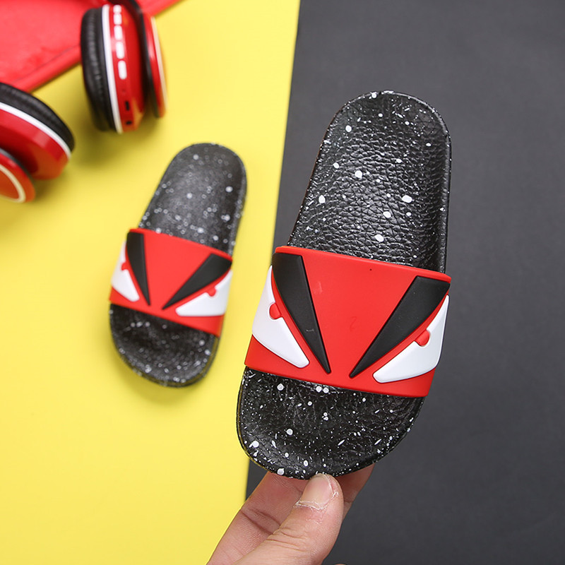 Boys Slippers Summer Girl Home Flip Flop Fashion Shark Children Bathroom Slippers Beach Sandals PVC Non-slip Casual Kids Shoes
