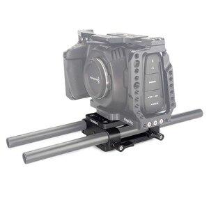 Image 5 - Kamera Montage Platte Stativ Einbeinstativ Montage Platte mit 15mm Rod Schellen Railblock Für Stange Unterstützung Schiene DSLR Kamera Rig