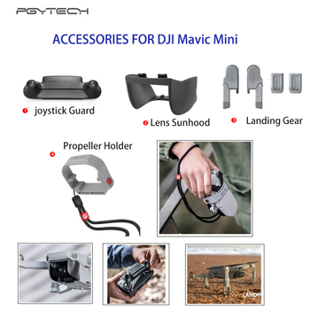 PGYTECH DJI Mavic Mini Lens Hood Cover Landing Gear Extension Control Rocker Propeller Holder For Mavic Mini Drone Accessories