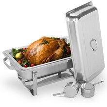 Прямоугольный Нержавеющая сталь шведского стола чафер блюдо Еда теплее