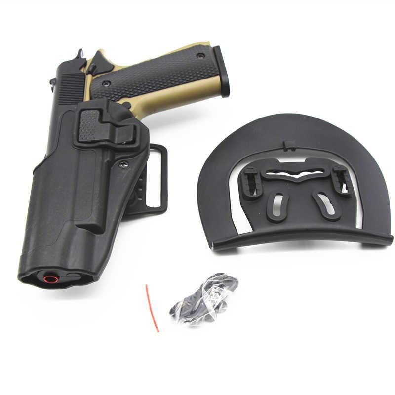 ซ้าย/ขวา Hand Quick Draw ปืนพกเข็มขัด HOLSTER Duty สำหรับ Colt 1911 Airsoft ทหารปืนพกพาการล่าสัตว์อุปกรณ์เสริม