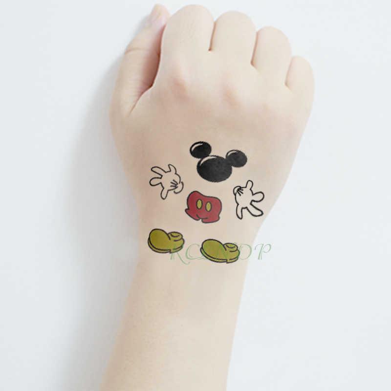 עמיד למים זמני קעקוע מדבקה חמוד מיקי עכבר שילוב tatto פלאש קעקוע מזויף קעקועים לילדים ילדה גברים נשים