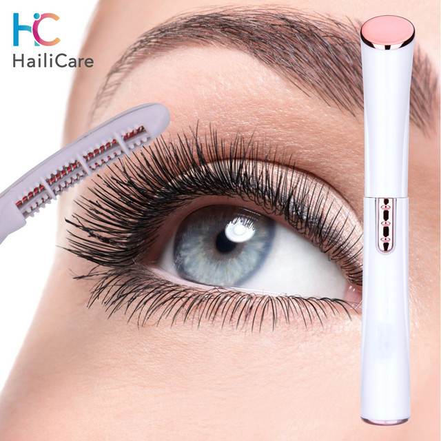 Electric Heated Eyelash Curler Perm Eyelash Curling Pen Heated Long Lasting Eye Lash Comb with Heat Indicator Eyes Makeup Tools 1