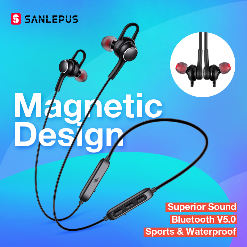 SANLEPUS D02 casque Sport sans fil Bluetooth ecouteurs 5.0 casque mains libres écouteurs pour iPhone Xiaomi Huawei Samsung
