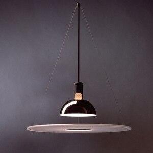 Flos frisbi projektant lampy i latarnie restauracja badania oświetlenie do salonu dekoracji luksusowy latający spodek droplight