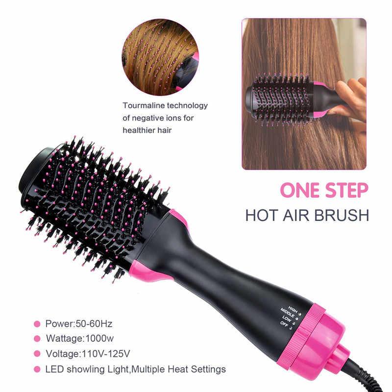DropShippingเครื่องเป่าผมVolumizer 2-in-1 Hair Salon Hot Air Paddle styling Hot Air Blowแปรงหวีผม