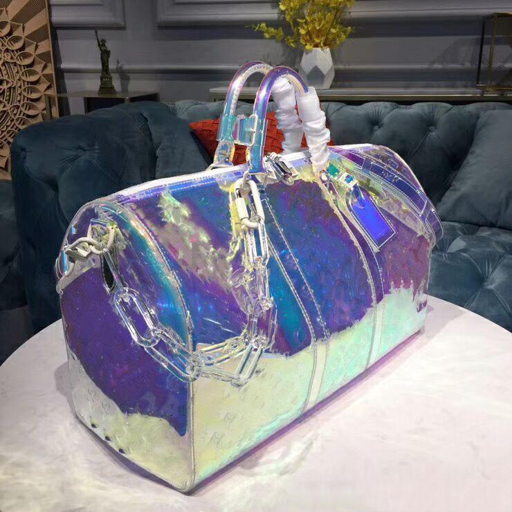2019 designer meilleure qualité transparent laser duffle sacs mode sac voyage épaule sac à main grande capacité sac kEePall