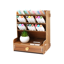 Large Capacity Stationery Holder Storage Box For Separate Parts Pen Holder With Drawer Desktop Organizer Home Office School Tool
