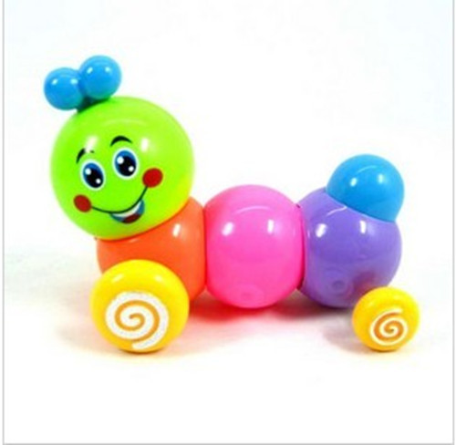 Wind-up Toy Colorful Chain Caterpillar Telescopic Worm Walk Twister Butt Toy Hot Selling