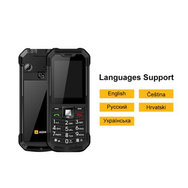 Image 3 - AGM M3 Rugged Dual SIM Outdoor 2.4 Phone IP68 Waterproof  Shockproof Dustproof Torch 1970mAh Flashlight Cell PhoneCellphones   -