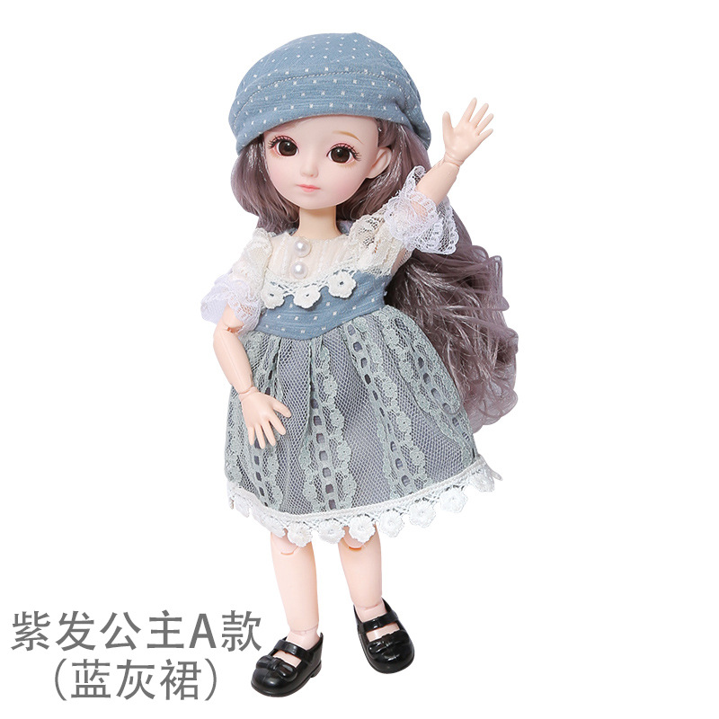 16cm/31cm Bjd Doll 12 Moveable Joints 1/12 Girls Dress 3D Eyes Toy with Clothes Shoes Kids Toys for Girls Children Birthday Gift 20
