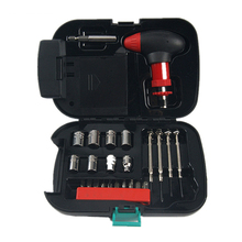 24 pcs Multifunction Repair Tool Set Universal Kit Car Household Socket Wrench Ratchet Screwdriver Lamp Emergency Light DN166 household tool ratcheting wrench set nut drill sleeve ratchet screwdriver 34 pcs of composite plastic packages