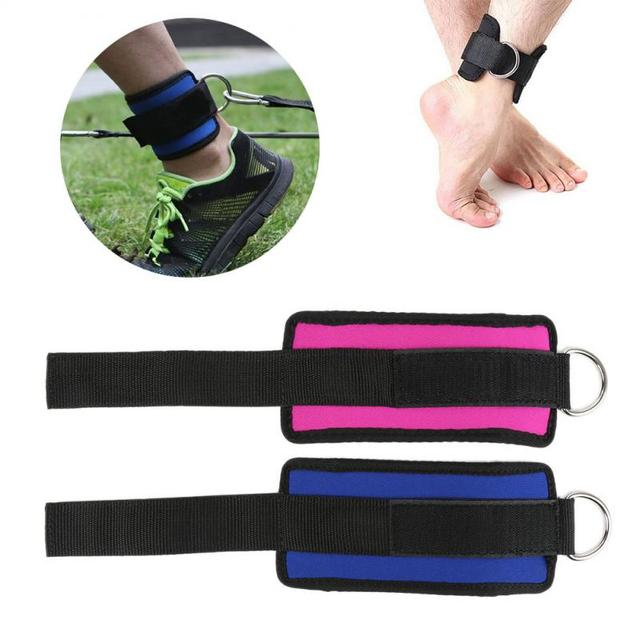 1 PC Ankle Strap Buckle Body Building Resistance Band Gym Thigh Leg Ankle Cuffs Power Weight Lifting Fitness Rope