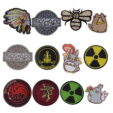 1Pcs New Arrival Totoro Animal Indian Head Death Skull Movie Parches PATCH Dragon Character BADGE Applique on Badge