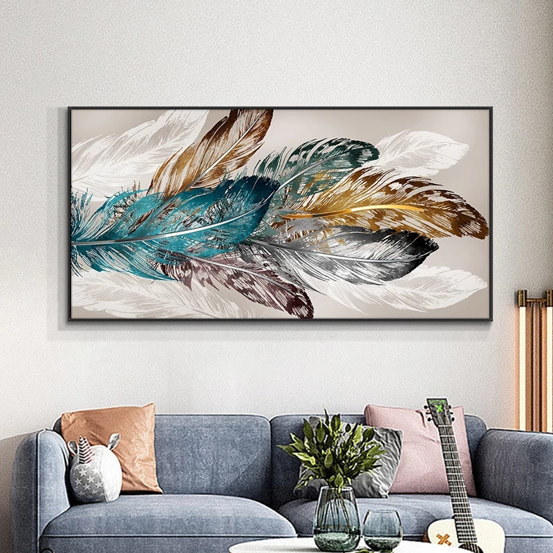 Leaf And Feather 5d Diy Diamond Painting