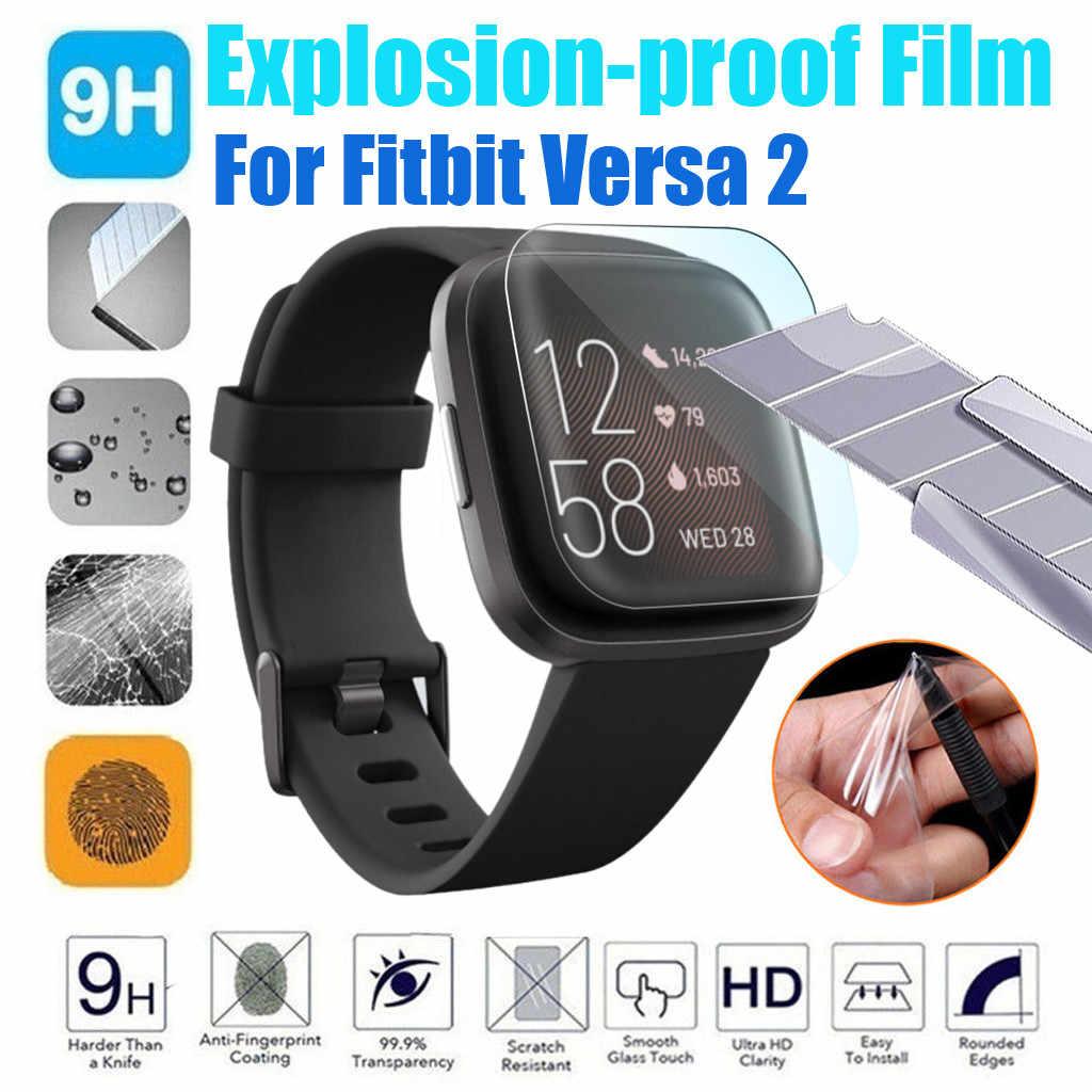 1X Bescherming Film Voor Fitbit Versa 2 9H Explosieveilige LCD TPU HD Full Cover Screen Protector Film Voor Fitbit versa Smart horloge