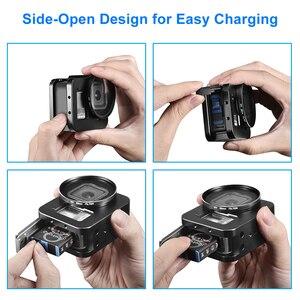Image 4 - Alüminyum alaşım koruyucu kılıf GoPro Hero 8 siyah Metal kasa çerçeve kafes + UV Lens filtre git Pro 8 kamera aksesuarları