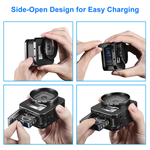 Image 4 - Aluminum Alloy Protective Case for GoPro Hero 8 Black Metal Case Frame Cage + UV Lens Filter for Go Pro 8 Camera Accessories