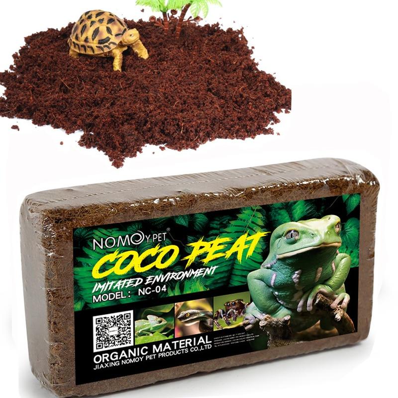 Reptile Coconut Soil Natural Coconut Fiber Substrate Lizard Tortoise Reptile Bedding Soil Reptile Terrariums Bottom Supplies