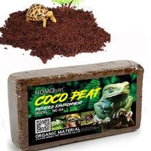Réptil solo de coco natural substrato de fibra de coco lagarto tartaruga réptil cama solo réptil terrários fundo suprimentos