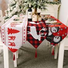 Скатерть на Новый год и Рождество украшения для кухонного обеденного