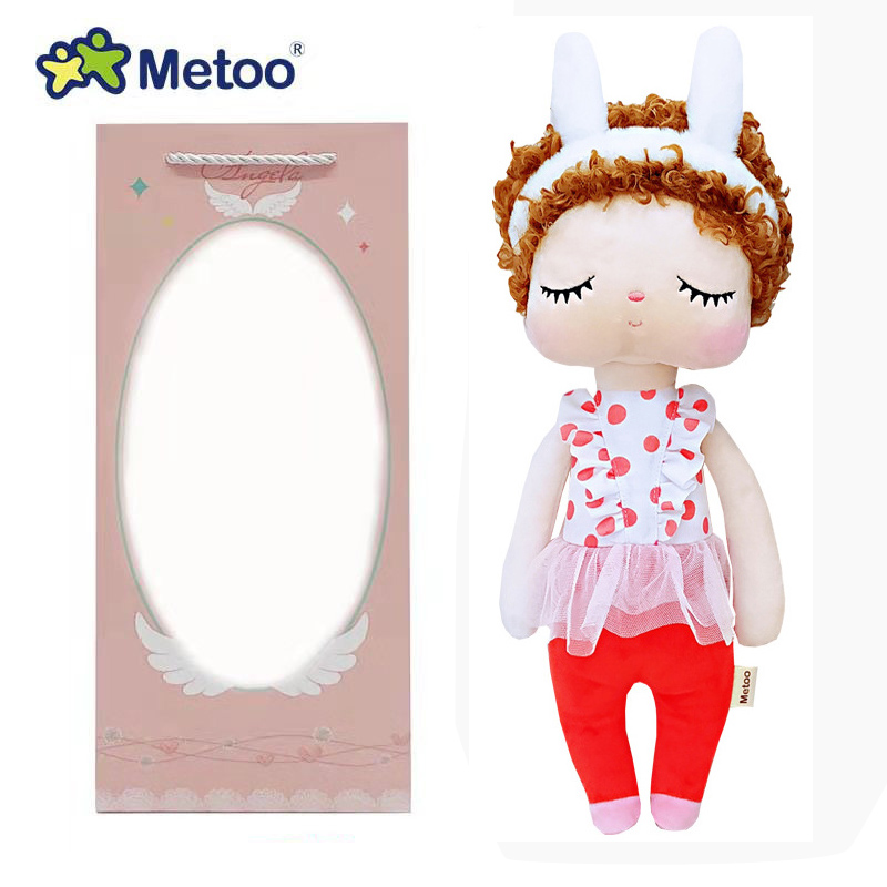 34cm boîte Metoo poupée jouets en peluche animaux en peluche enfants jouets pour filles enfants garçons bébé doux jouets en peluche dessin animé Angela lapin