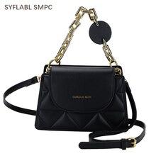 Crossbody-Bag Luxury Handbag Chain Messenger Ladie-Design Fashion PU Solid Women
