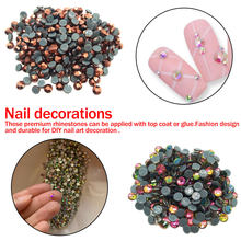 1 set Glitter Strass Kristall AB FlatBack Strass Sewing & Stoff Garment Strass Nail art Stein(China)