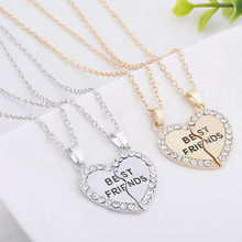 Fashion Couple Love Stitching Necklace Good Friend Set Witness Of Friendship