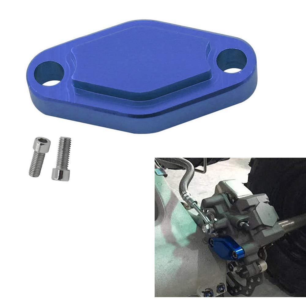 ATV Parking Brake Block Off Plate With O Ring For Yamaha BANSHEE 87-06 BLASTER 04-06 / RAPTOR 125 250 250R 350 50 660 700 90