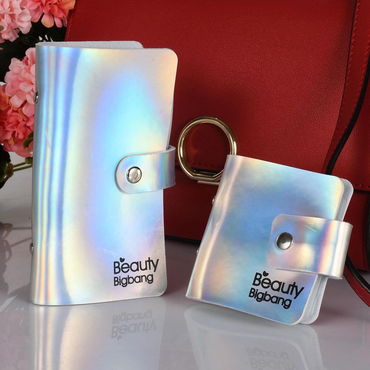BEAUTYBIGBANG Stamping Plate Holder Case Bag Colorful Square Rectangular Nail Art Plate Organizer Laser  6*6cm /6*12cm