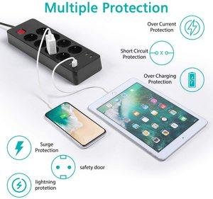 Image 4 - Несколько Мощность полосы Стабилизатор напряжения 4/6/8 способ розетками переменного тока EU электрическая розетка с USB Зарядное устройство адаптер 1,5 м кабель удлинитель