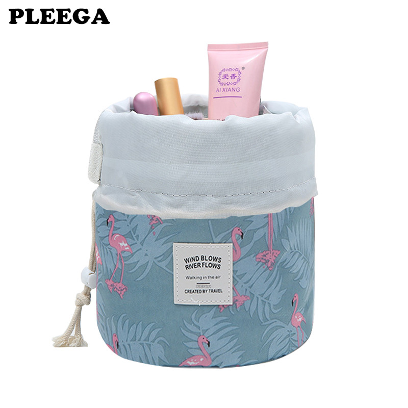 PLEEGA Women Lazy Drawstring Cosmetic Bag Fashion Travel Makeup Bag Organizer Make Up Case Storage Pouch Toiletry Beauty Kit